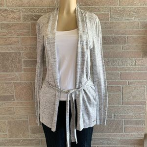 Levi's Gray Belted Cardigan